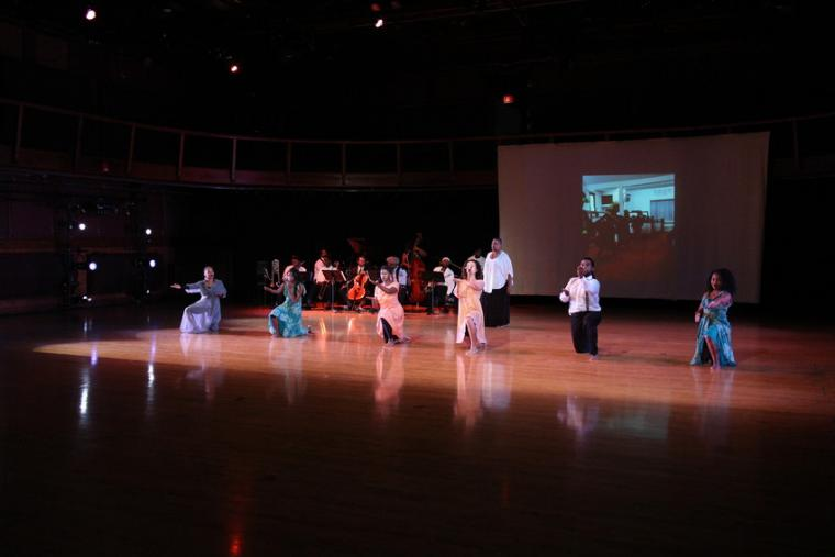 Photograph of dancers performing.