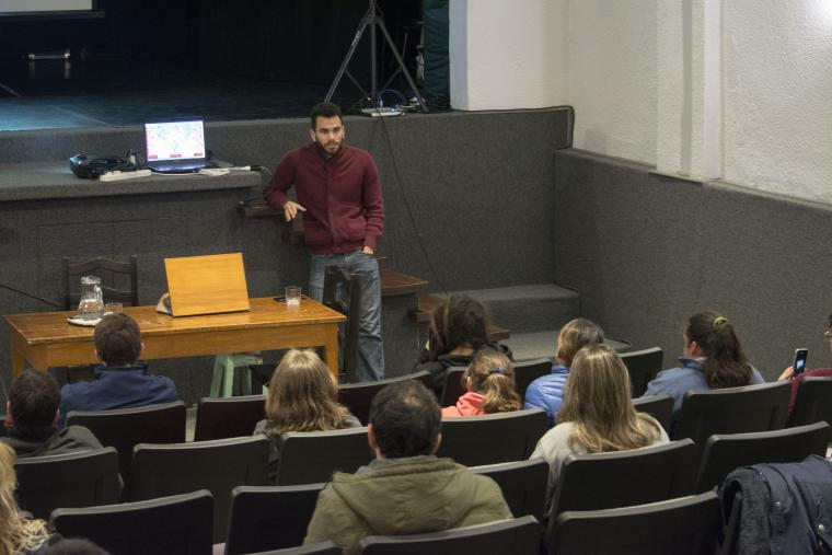 Gabriel Cruz-Ruiz leads a presentation on his native Puerto Rico