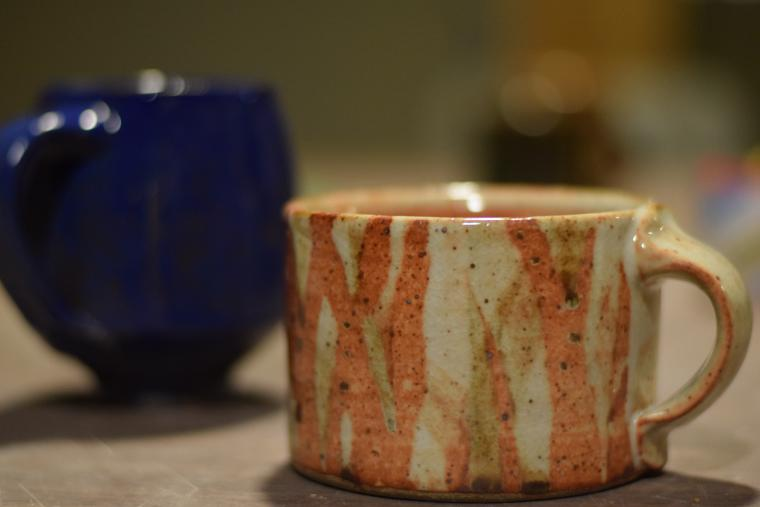A piece of pottery