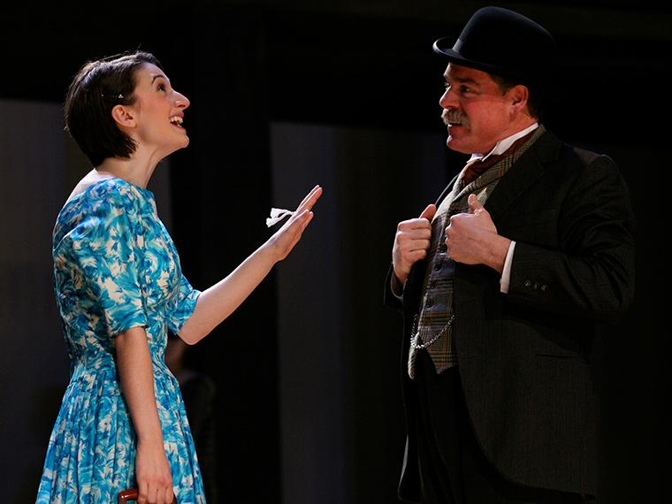 Kat Lee as Eurydice, David Bugher as Father in Eurydice, by Sarah Ruhl, Directed by Barney O'Hanlon, Feb 10-12, 2011