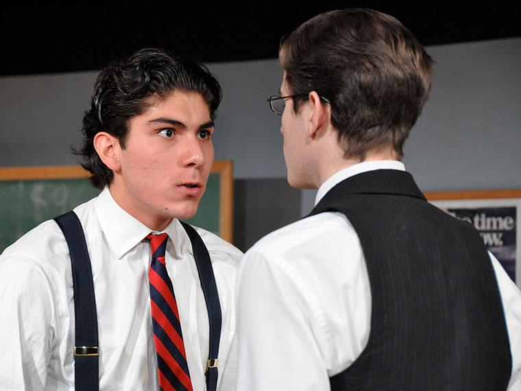 Enrico Nassi as Richard Roma, Aaron Profumo as John Williamson in Glengarry Glen Ross, by David Mamet, Directed by Josh Sobel '09, Mar 4-8, 2009