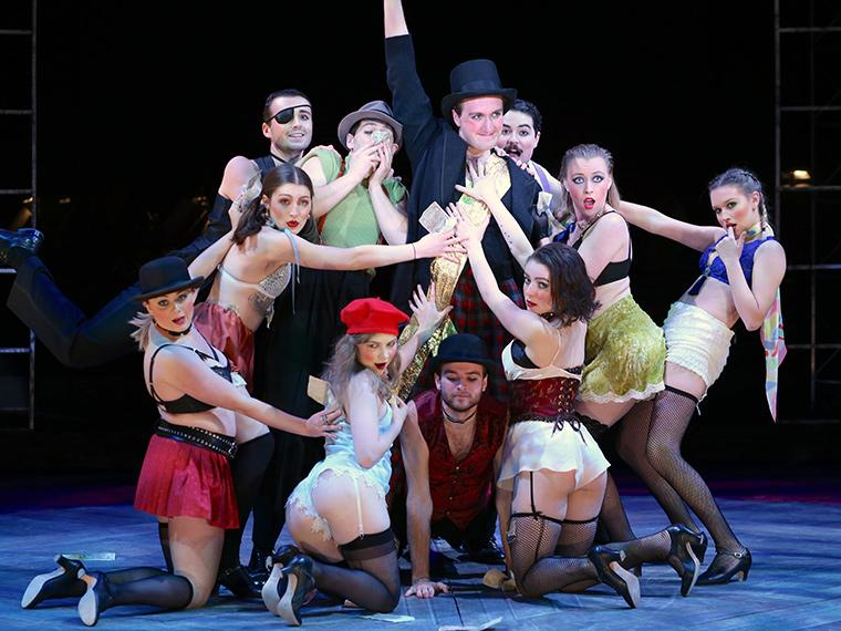 The company of Cabaret, music by John Kander, lyrics by Fred Ebb & book by Joe Masteroff, Directed by Paul Moser, Irene & Alan Wurtzel Theater, Dec 6-9, 2018