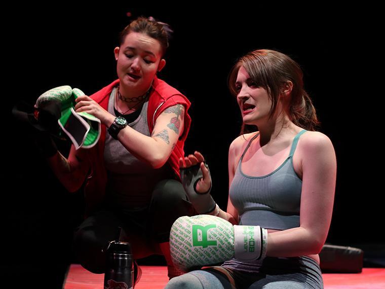 Production photo of Collective Rage: A Play in Five Betties, written by Jen Silverman, Directed by Tlaloc Rivas, Irene & Alan Wurtzel, Feb 6-9, 2020