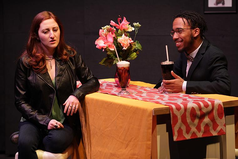 Sarah Nathanson as Zoey Beckons/Sally-Mae Hockenberry, Banu Newell as Edmond Hodges in What We Look Like, written by B.J. Tindal, Directed by Caroline Jackson Smith, Irene & Alan Wurtzel, Feb 7-10, 2019