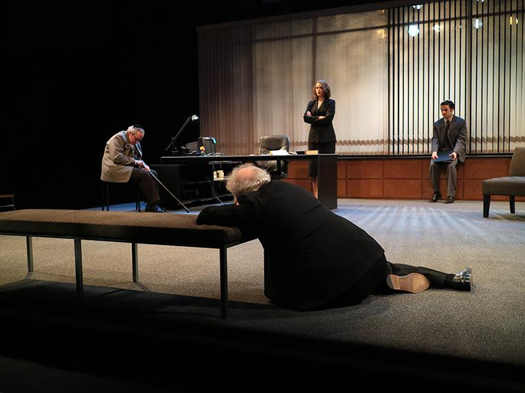 Production photo of Denial, by Peter Segal, Directed by Paul Moser, Hall Auditorium, Feb 2-5, 2017