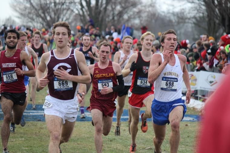 A group of men running in a race