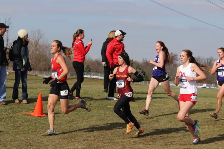 A group of women running in a race