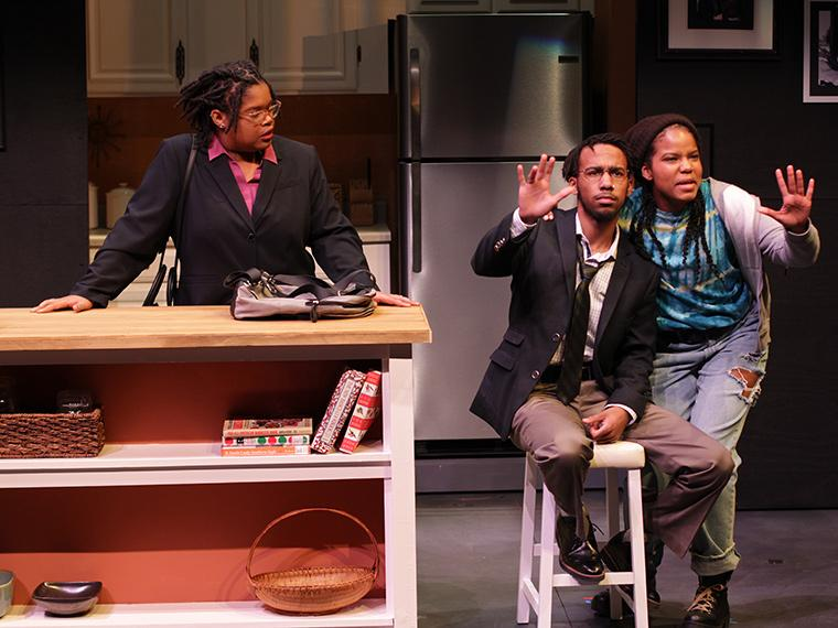 Ti Ames as Jean Hodges, Banu Newell as Edmond Hodges, Nasirah Fair as Angie Hodges in What We Look Like, written by B.J. Tindal, Directed by Caroline Jackson Smith, Irene & Alan Wurtzel, Feb 7-10, 2019