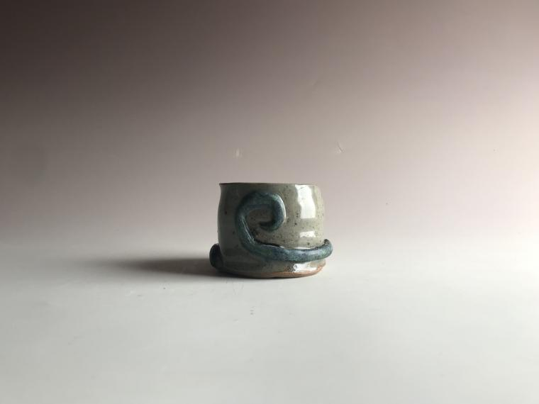 cup with swirl detail