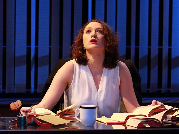 Marina Schwadron as Abigail Gersten in Denial, by Peter Segal, Directed by Paul Moser, Hall Auditorium, Feb 2-5, 2017