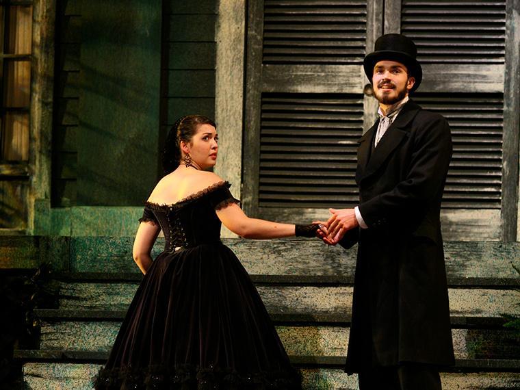 Lauren Friedlander as Lady Macbeth, Tip Scarry as Macbeth in Macbeth, by William Shakespeare, Directed by Justin Emeka, Oct 7-10, 2010