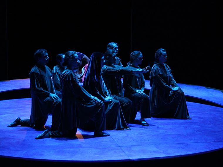 Photo of the company, Pericles, adapted and directed by Paul Moser, Dec 4-7, 2014