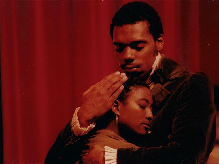 Chaunetta Jones '03 as Ann Johnson, Channing Joseph '03 as James Hewlett in The African Company Presents Richard III, Oct 6-8, 2000