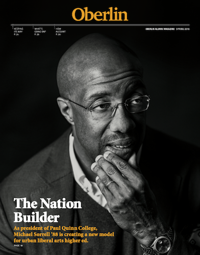A magazine with a man with his head in his hand on the cover.
